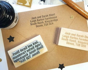 Personalised Home Address Rubber Stamp  - Personalized Stamp - New Home Stamper - Luggage Stamp - Supplies - Contact Details - Snail Mail