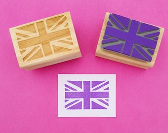 Union Jack Rubber Stamp - Union Flag - British Flag - Made in Britain - Craft Supplies - Scrapbooking - English - Business