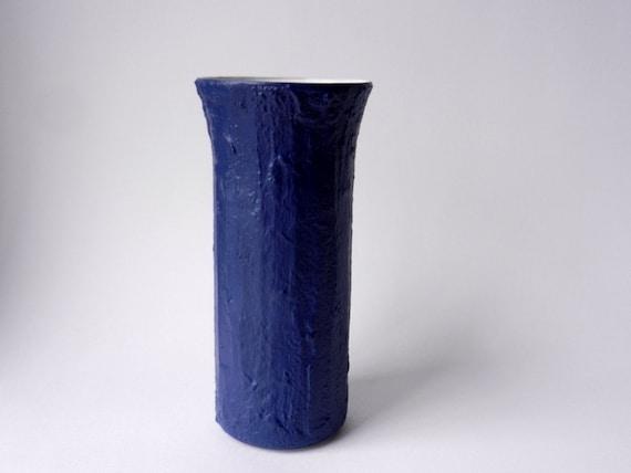 Navy Blue Vase 9 Inch Vase Blue Home Decor Navy Home Etsy