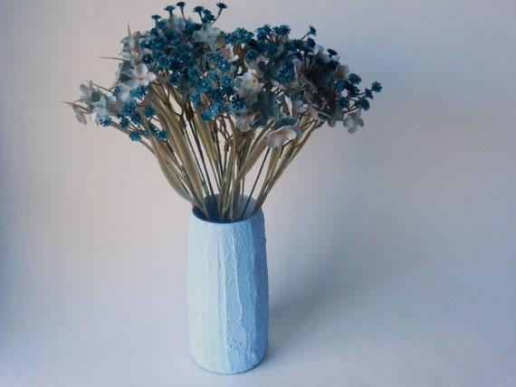 Light Blue Vase Powder Blue Home Decor Concrete And Glass Etsy