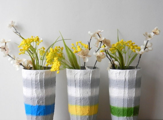 Trio Of Vases Instant Collection Set Of 3 Grey And Etsy