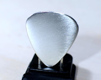Guitar Pick Handmade from Sterling Silver ready to personalize - GP347