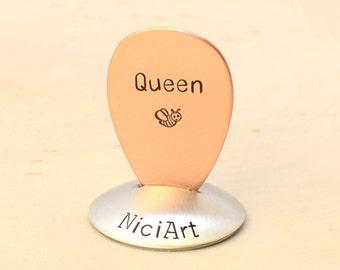 Teardrop Guitar Pick for the Queen Bee in copper - Jazz Style Pick - GP776