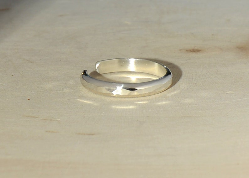 dainty toe ring TR11201859 hammered silver toe ring thin band toe ring hammered ring midi ring Sterling Silver toe ring