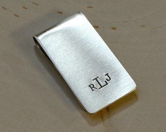 Sterling Silver Monogram Personalized Money Clip - Solid 925 MC022