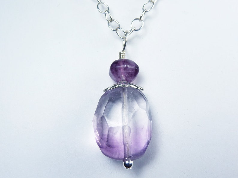Large Faceted Translucent Purple and Pink Fluorite Nugget and image 0