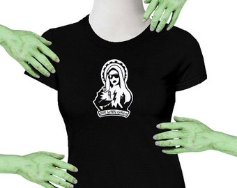 Voodoo Sugar Our Lady Gaga Black Missy Fit t-shirt Plus Sizes Available