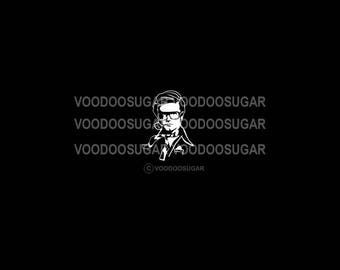 Voodoo Sugar Charles Nelson Reilly CNR tribute white vinyl decal
