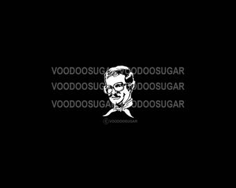 Voodoo Sugar Charles Nelson Reilly CNR 02 tribute white vinyl decal