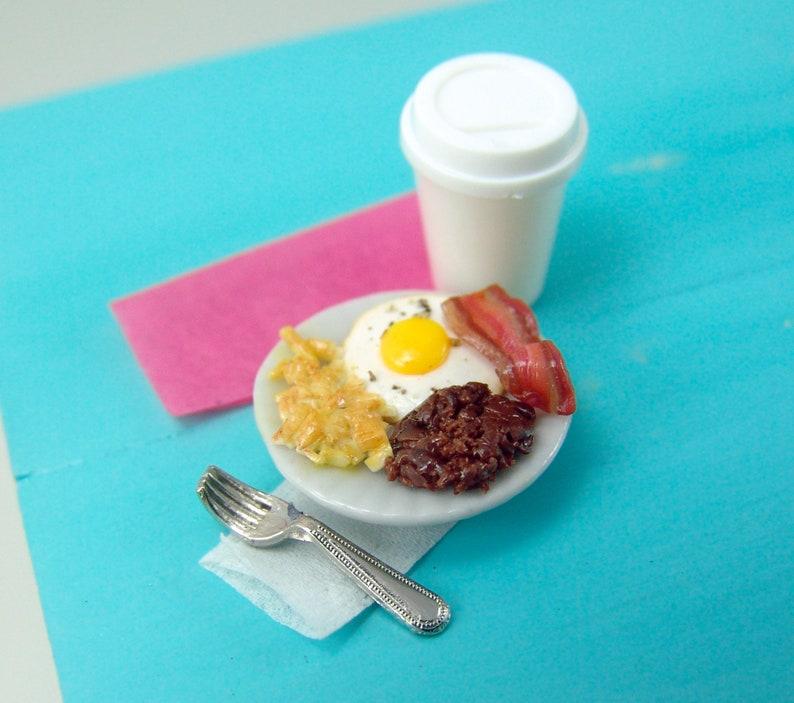 /'Breakfast /'   Sign Miniature DOLLHOUSE 1:12 scale