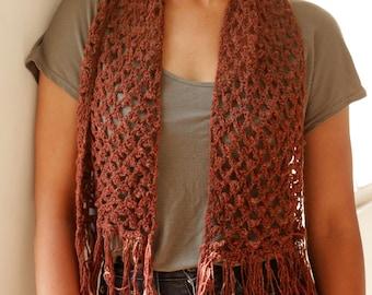 Picot Lace Crochet Scarf - PDF Pattern