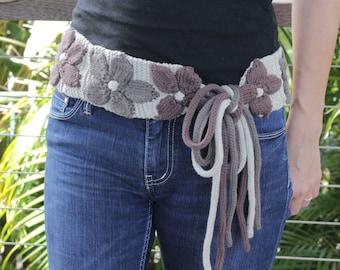 Sasha Knitted Belt - PDF Pattern