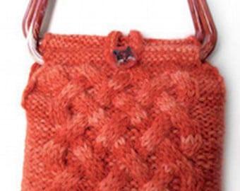 Celtic Cable Bag   PDF knitting pattern