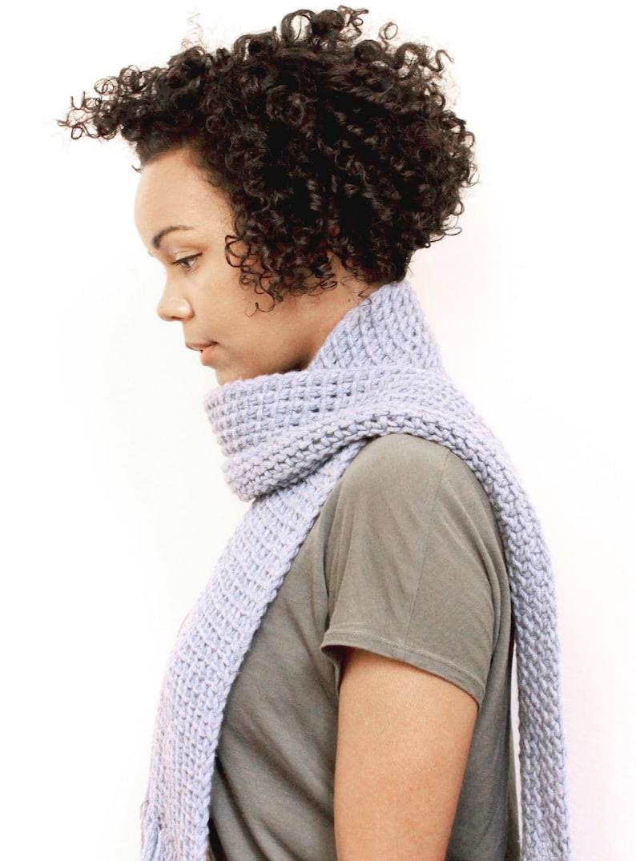 Tunisian Crochet Scarf  PDF Pattern image 0