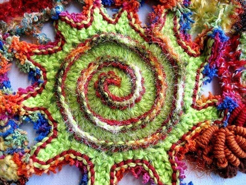 Spectacular Spirals  a PDF freeform crochet tutorial image 0