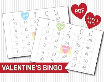 Valentine's Day Bingo PDF Download