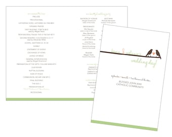 shabby chic wedding program custom diy printable file etsy