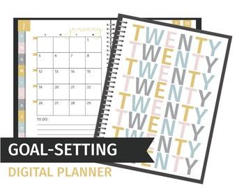 Goal Setting Digital Planner for Goodnotes & Notability