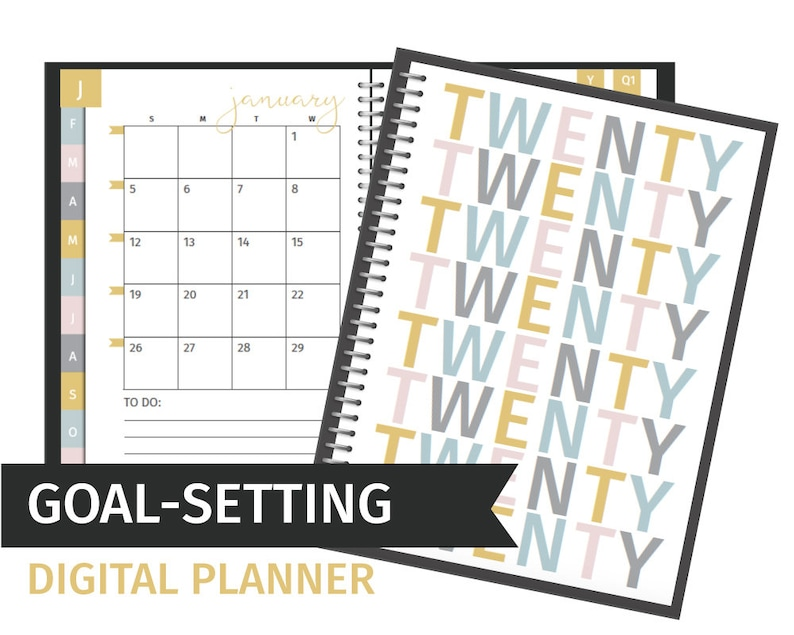 Goal Setting Digital Planner for Goodnotes & Notability image 0