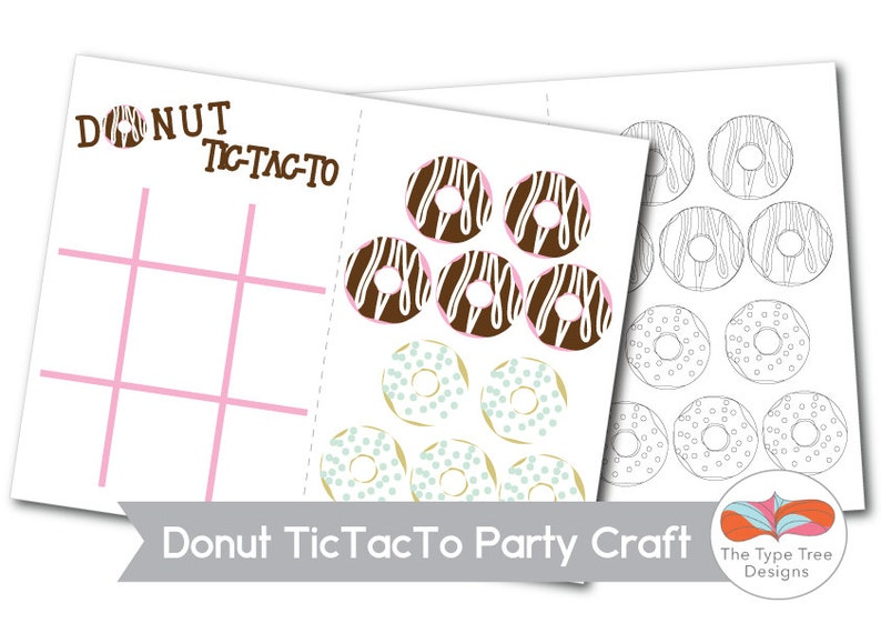 Donut Party Craft or Party Favor Printable image 0