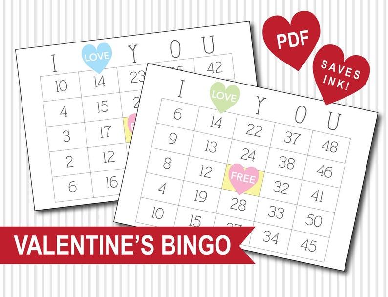 Valentine's Day Bingo PDF Download image 1