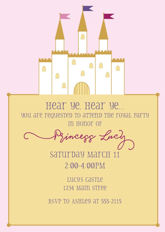 Princess Castle Birthday Invitation  DIY Printable Invitation image 1