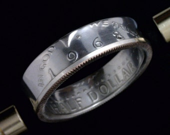 Kennedy Half Dollar Coin Ring  - (Obverse Orientation) - (Choose The Year & Ring Size You Want)