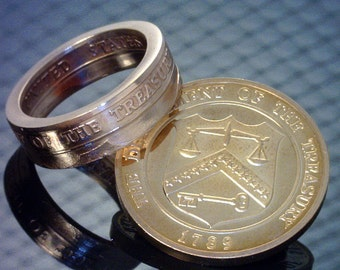COIN RING U.S. Treasury Proof Medallion (Select The Ring Size You Want)