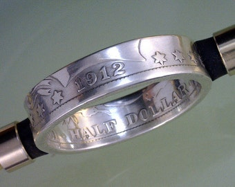 Barber Half Dollar  -- Coin Ring -------- (Choose The Year & Ring Size You Want)