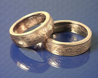 COIN RING  - (( Canadian Large Copper Penny )) - (Choose The Ring Size You Want) -  Outstanding Detail