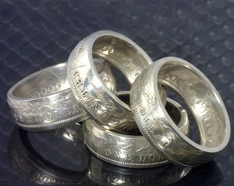Coin Ring Jewelry - ( Morgan Silver Dollar ) (Choose The YEAR & RING SIZE You Want)