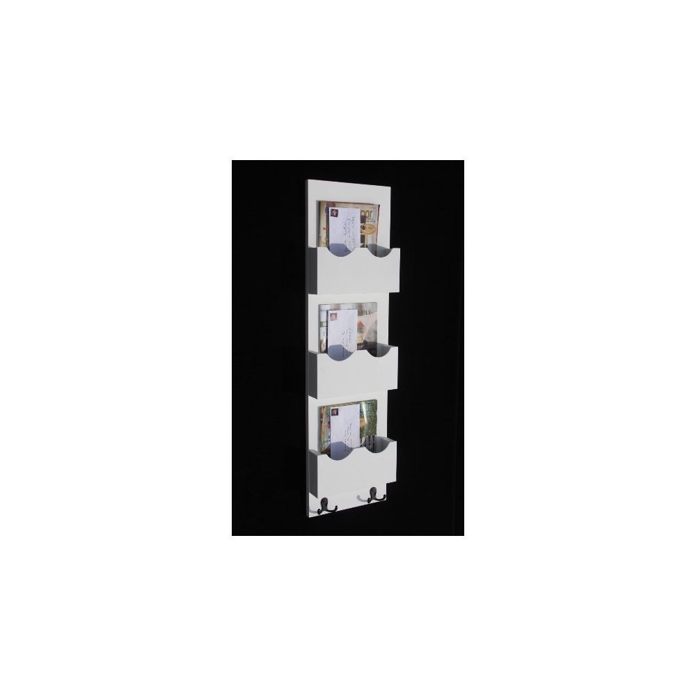 Triple Slot Mail Organizer Mail Sorter Mail And Key Holder