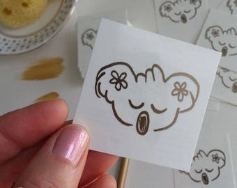 Temporary tattoo Gold Koala - Gold Koala removable tattoo, fake tattoo