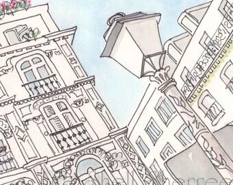 Paris Rue Victor Masse art print giclee - Paris architecture print