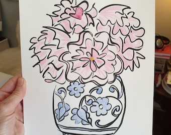 Original Flower Art
