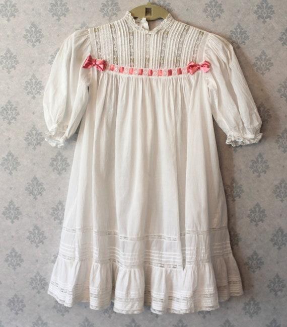 Antique Victorian to Edwardian White Cotton Lace C