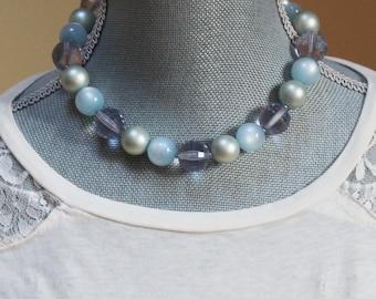 Vintage Plastic Beaded Short Coro Necklace
