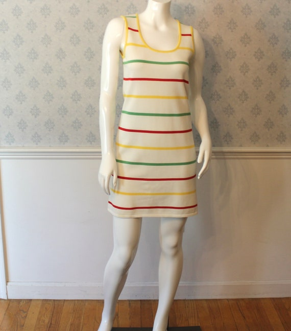 Vintage 1980s Escada White, Yellow, Red and Green