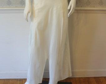 Vintage Wonder Maid Off White Nylon Long Skirt Slip with Elastic Waist