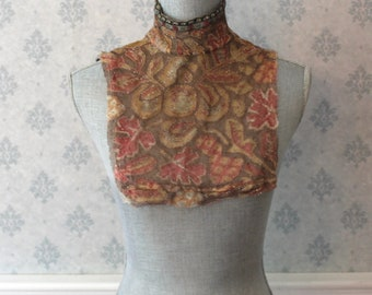 Antique Victorian to Edwardian Beaded Lace Net Collar and Matching Sleeve Cuffs