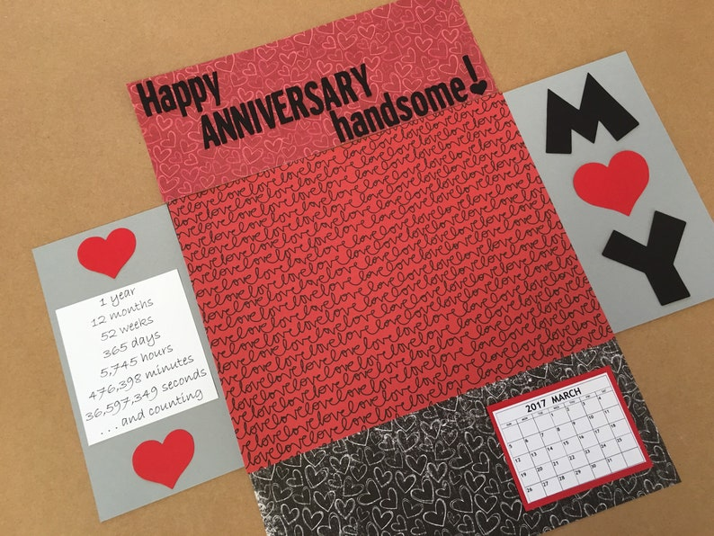 27924fae8b79 Silver Happy Anniversary Care Package Label Flap Stickers