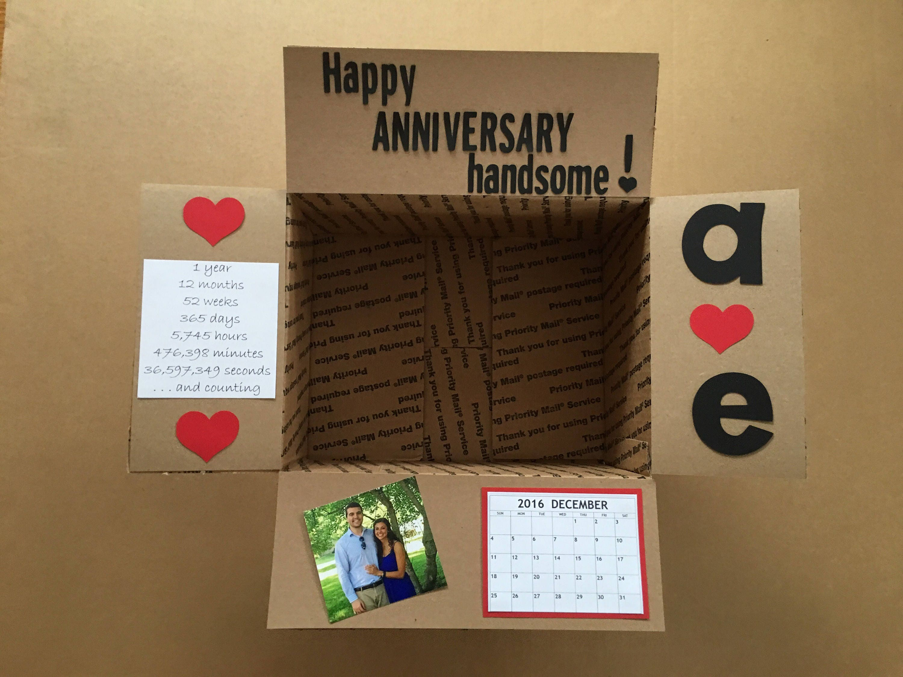 45307accd878 Happy Anniversary Care Package Label Flap Stickers