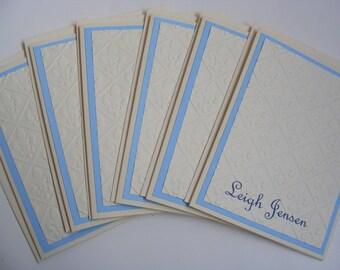 Personalized Fleur De Lis Cards Fleur de lis Thank you card Fleur de lis embossed Note Cards - Set of 6 Cards with Envelopes