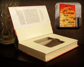 Hollow Book Safe with Flask - The Girl Who Played with Fire