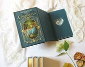 Hollow Book Safe with Heart - Cinderella (Magnetic Closure)