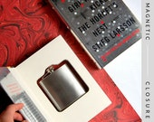 Hollow Book Safe & Flask |  The Girl Who Kicked the Hornet's Nest | Magnetic Closure