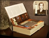 Hollow Book Safe & Flask - Hard Choices by Hillary Clinton (Magnetic Closure)