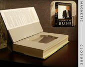 Hollow Book Safe & Flask |  George W. Bush Decision Points | Magnetic Closure