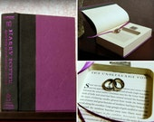 "Hollow Book Safe Ring Bearer - Harry Potter and The Half-Blood Prince ""Unbreakable Vow"" without dust-jacket (Magnetic Closure)"