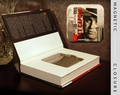 Hollow Book Safe & Flask |  Get Capone | Magnetic Closure
